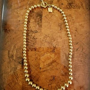 Ralph Lauren gold bead toggle necklace
